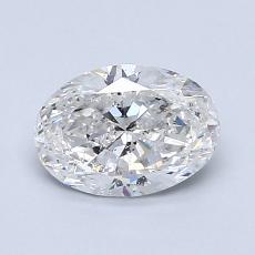 1.00-Carat Oval Diamond Very Good E SI2