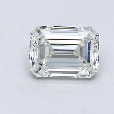 Pierre recommandée n°2: Diamant taille émeraude 0,81 carat