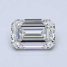 1.02-Carat Emerald Diamond Very Good I VVS2