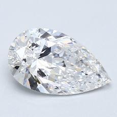 推薦鑽石 #2: 1.40 克拉梨形鑽石