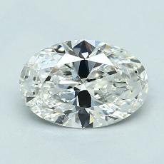 1.02-Carat Oval Diamond Very Good H VVS1