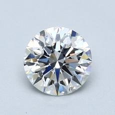 1.00-Carat Round Diamond Ideal D IF