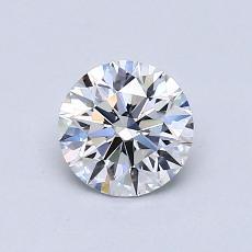 0.76 Carat 圓形 Diamond 理想 E VVS1