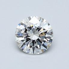 0,80-Carat Round Diamond Ideal H SI1