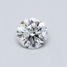 0.41-Carat Round Diamond Ideal G SI1
