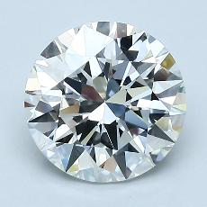 2.07-Carat Round Diamond Ideal G VVS2