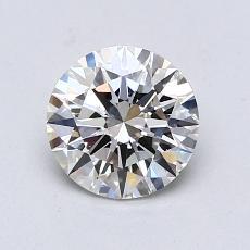 1.08-Carat Round Diamond Ideal H VVS2