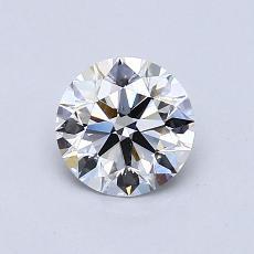 0.80 Carat 圆形 Diamond 理想 E VS2