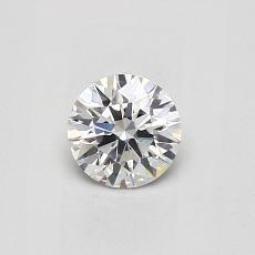 0.41 Carat 圆形 Diamond 理想 E VS2