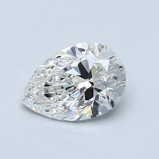 推荐宝石 3:0.80 克拉梨形切割钻石