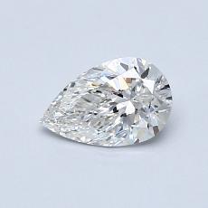0.54-Carat Pear Diamond Very Good G VS2
