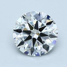 1.30-Carat Round Diamond Ideal H VVS2