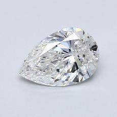 推薦鑽石 #4: 0.72 克拉梨形鑽石