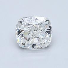 1.00-Carat Cushion Diamond Very Good F VVS1