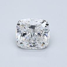 0.82-Carat Cushion Diamond Very Good D VVS2