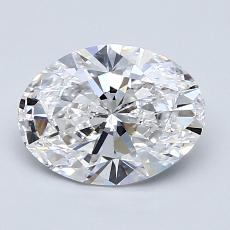 1.51 Carat 椭圆形 Diamond 非常好 D VS1