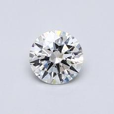 0.53-Carat Round Diamond Ideal D VVS2