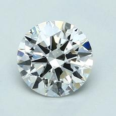 1.20-Carat Round Diamond Ideal H VVS2