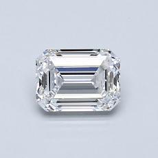 0.70-Carat Emerald Diamond Very Good D VS1