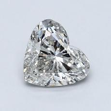 1,00 Carat Coeur Diamond Très bonne H SI2