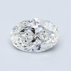 0.82-Carat Oval Diamond Very Good E VVS1