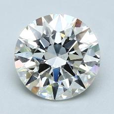 3.01-Carat Round Diamond Ideal H VS2