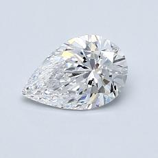 0.70-Carat Pear Diamond Very Good D VVS1