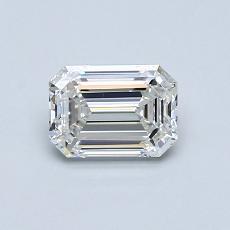 0.75-Carat Emerald Diamond Very Good H IF