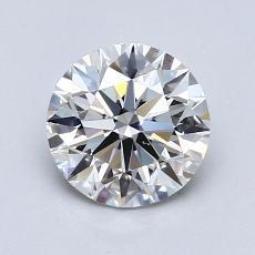 0.90 Carat 圆形 Diamond 理想 G VVS2