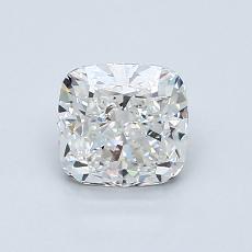 1.00 Carat クッション Diamond ベリーグッド F VVS2