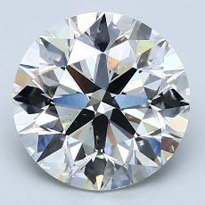 3,00-Carat Round Diamond Ideal H VS2