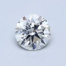 0,80-Carat Round Diamond Ideal I SI1