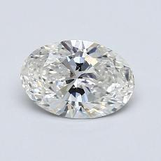 0.80-Carat Oval Diamond Very Good H VS2