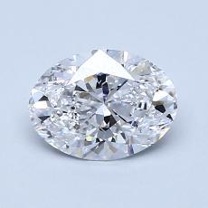 目标宝石:1.00克拉椭圆形切割钻石