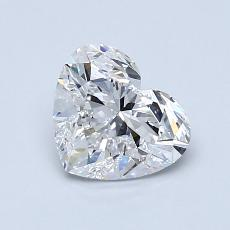 1.00-Carat Heart Diamond Very Good D VS1