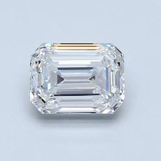 1.00-Carat Emerald Diamond Very Good F VVS2