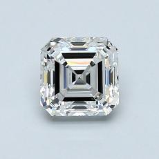 1.00-Carat Asscher Diamond Very Good G VVS2
