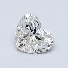 0.90-Carat Heart Diamond Very Good H SI1