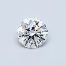 0.50 Carat ラウンド Diamond アイデアル D VVS1