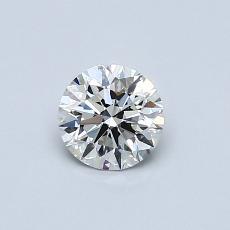 0.50 Carat 圓形 Diamond 理想 I VVS1