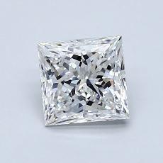 1.05 Carat 公主方形 Diamond 非常好 F VS1