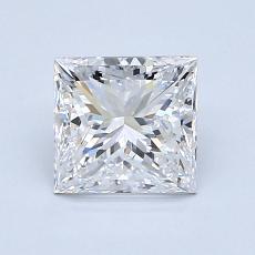 推荐宝石 2:1.40 克拉公主方形钻石