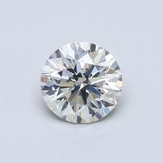 0.60 Carat 圓形 Diamond 理想 J SI2