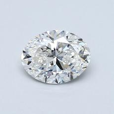 0.70-Carat Oval Diamond Very Good F SI2