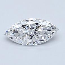 Pierre recommandée n°1: Diamant Taille marquise de 0,66carat
