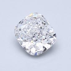 1.00-Carat Cushion Diamond Very Good D VVS2