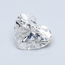 0.90-Carat Heart Diamond Very Good D VVS2