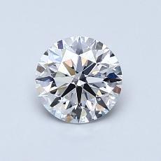 0.75-Carat Round Diamond Ideal D VS2