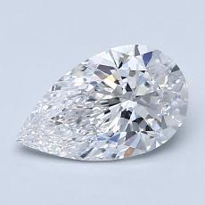 1.20 Carat 梨形 Diamond 非常好 D VVS1
