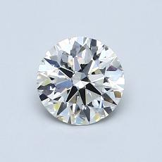 0,80-Carat Round Diamond Ideal H VS2